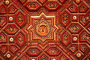INDIA, RAJASTHAN an ornate painted ceiling in Junagarh Fort in Bikaner
