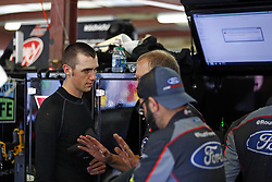 July 20, 2018 - Loudon, New Hampshire, United States of America - Austin Cindric (60) hangs out in the garage prior to final practice for the Lakes Region 200 at New Hampshire Motor Speedway in Loudon, New Hampshire. (Credit Image: © Justin R. Noe Asp Inc/ASP via ZUMA Wire)