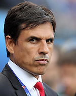 Wales manager Chris Coleman looks on. UEFA Euro 2016, group B , England v Wales at Stade Bollaert -Delelis  in Lens, France on Thursday 16th June 2016, pic by  Andrew Orchard, Andrew Orchard sports photography.