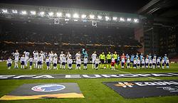 De to hold stiller op før kampen i UEFA Europa League mellem FC København og Malmö FF den 12. december 2019 i Telia Parken (Foto: Claus Birch).