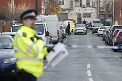 © Licensed to London News Pictures. 20/01/2020. London, UK. The scene in Redbridge as an investigation is launched into the deaths of three men all of whom had suffered apparent stab injuries. Photo credit: Peter Macdiarmid/LNP