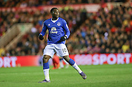 Everton forward Romelu Lukaku   during the Capital One Cup match between Middlesbrough and Everton at the Riverside Stadium, Middlesbrough, England on 1 December 2015. Photo by Simon Davies.