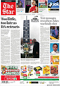 October 09, 2021 - AFRICA: Front-page: Today's Newspapers In Africa