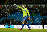Leeds United goalkeeper Bailey Peacock-Farrell  during the EFL Sky Bet Championship match between Leeds United and Wolverhampton Wanderers at Elland Road, Leeds, England on 7 March 2018. Picture by Paul Thompson.