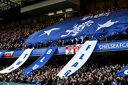 Chelsea fans fly the flags - Mandatory by-line: Jason Brown/JMP - 08/05/17 - FOOTBALL - Stamford Bridge - London, England - Chelsea v Middlesbrough - Premier League