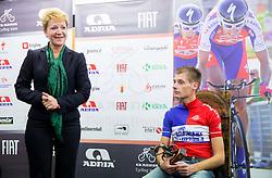 Sonja Gole of Adria Mobil and Tomaz Nose, rider of KK Adria Mobil when he retires as a professional cycling athlete, on November 6, 2014 in Cesca vas, Novo mesto. Foto: Vid Ponikvar / Sportida