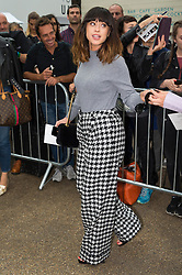 © Licensed to London News Pictures. 18/09/2016.  LOUISE ROSE ALLEN aka FOXES attends the TOP SHOP UNIQUE  Spring/Summer 2017 show. Models, buyers, celebrities and the stylish descend upon London Fashion Week for the Spring/Summer 2017 clothes collection shows. London, UK. Photo credit: Ray Tang/LNP<br /> <br /> <br /> London, UK. Photo credit: Ray Tang/LNP