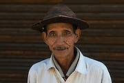 Adi Gallong man & cane hat<br /> Adi Gallong Tribe<br /> Arunachal Pradesh<br /> North East India