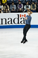KELOWNA, BC - OCTOBER 26:  Vladimir Morozov of Russia competes in pairs free skate during Skate Canada International at Prospera Place on October 25, 2019 in Kelowna, Canada. (Photo by Marissa Baecker/Shoot the Breeze)