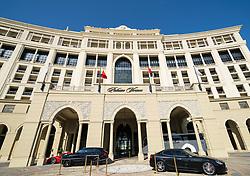 Exterior of Palazzo Versace luxury hotel in Dubai, united Arab Emirates