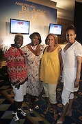 l to r: Olivia Smashum, Bevy Smith, Cathy Hughes and Tamara Tunie at The HBO Talk Series with Vivica Fox during the The 2009 American Black Film Festival held at The Ritz-Carlton in Miami Beach on June 27, 2009 ..
