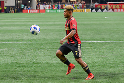 March 11, 2018 - Atlanta, GA, U.S. - ATLANTA, GA Ð MARCH 11:  Atlanta United's Josef Martinez (7) settles the ball during the match between DC United and Atlanta United on March 11, 2018 at Mercedes-Benz Stadium in Atlanta, GA.  Atlanta United FC defeated DC United by a score of 3 - 1.  (Photo by Rich von Biberstein/Icon Sportswire) (Credit Image: © Rich Von Biberstein/Icon SMI via ZUMA Press)