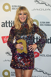 Kylie Minogue after winning the Legend award, at the Virgin Holidays' Attitude Awards at the Roundhouse, London.