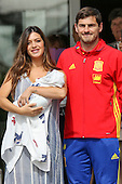 Iker Casillas and Sara Carbonero leave hospital with new baby