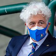 Treviso, 03/04/2021 Stadio Monigo<br /> European Challenge Cup : Benetton Treviso vs Agen<br /> il presidente della FIR Marzio Innocenti