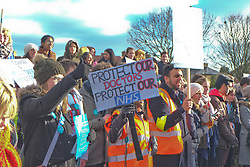 Junior doctors' strike, St Helier, Sutton & Royal Marsden hospitals, South London 12 January 2016