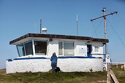 Covid 19 - Coastguard station closed due to Coronavirus, St Aldhelm's Head Dorset. UK April 2020