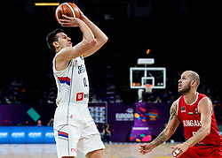 Dragan Milosavljevic of Serbia during basketball match between National Teams of Serbia and Hungary at Day 11 in Round of 16 of the FIBA EuroBasket 2017 at Sinan Erdem Dome in Istanbul, Turkey on September 10, 2017. Photo by Vid Ponikvar / Sportida