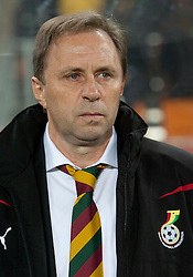 Coach of Ghana Milovan Rajevac (SRB) during the 2010 FIFA World Cup South Africa Quarter Finals football match between Uruguay and Ghana on July 02, 2010 at Soccer City Stadium in Sowetto, suburb of Johannesburg. Uruguay defeated Ghana after penalty shots. (Photo by Vid Ponikvar / Sportida)