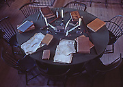 Lawyer's Table, US Courtroom, Independence National Historic Park, Philadelphia, PA
