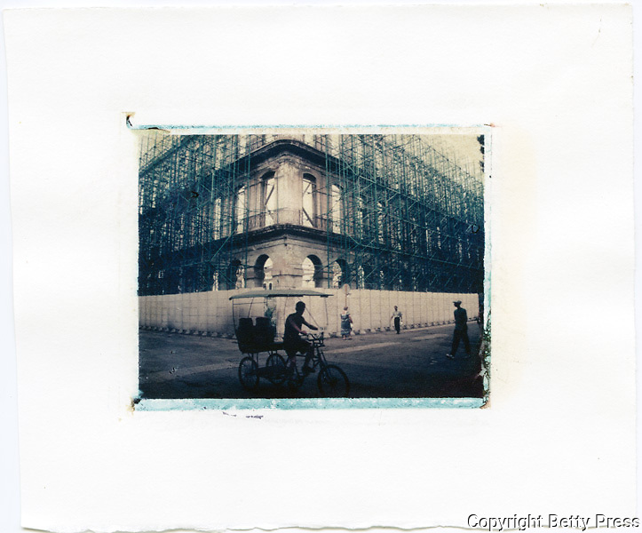 Restoration of old building, Havana, Cuba<br /> Image size 4x5, Matted 12x10 Edition of 25 <br /> Archival Pigment Print