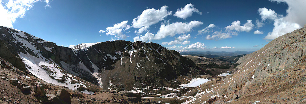 The vista from Summit Lake State Park near the summit of Mount Evans