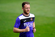 Jake Taylor (25) of Exeter City warming up before the EFL Sky Bet League 2 match between Exeter City and Lincoln City at St James' Park, Exeter, England on 19 August 2017. Photo by Graham Hunt.