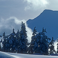 Mount Baker and the Mount Baker Wilderness viewed from Washington's Mount Baker Ski Area.