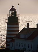 Quoddy Head Lighthouse, easternmost point in Maine, Quoddy Head State Park, Maine.