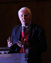© Under licence to London News Pictures. 14/03/14 Tony Benn has died aged 88. FILE PICTURE: 30/03/2011.Tony Benn speaks at a 'Hands Off Libya' rally organised by the Stop The War Coalition, at Conway Hall in central London on March 30th 2011. .Picture credit should read:  Blake-Ezra Cole/London News Pictures.