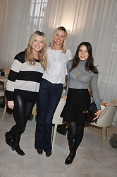 Left to right, TINA HOBLEY, MALIN JEFFERIES and LAUREN KEMP at a ladies breakfast hosed by At Last! held at Grace, 11c West Halkin Street, London on 29th January 2013.