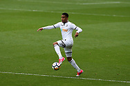 Martin Olsson of Swansea city in action. Premier league match, Swansea city v Huddersfield Town at the Liberty Stadium in Swansea, South Wales on Saturday 14th October 2017.<br /> pic by  Andrew Orchard, Andrew Orchard sports photography.