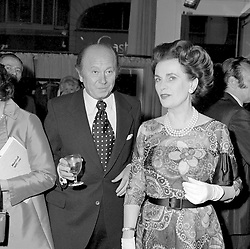 23 May 1972 - Margaret, Duchess of Argyll and Richard Mayo at a party in London.<br /> <br /> Photo by Desmond O'Neill Features Ltd.  +44(0)1306 731608  www.donfeatures.com