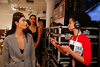Backstage at the Revival Swimwear Runway Show Hosted by Klarna STYLE360 NYFW on September 11, 2019 in New York City