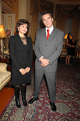 ROWAN SOMMERVILLE and MONA ABDEL NASSER at a party to celebrate the publication of The End of Sleep by Rowan Somerville held at the Egyptian Embassy, London on 27th March 2008.<br /><br />NON EXCLUSIVE - WORLD RIGHTS