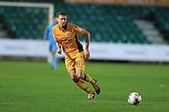 Mark Randall of Newport county in action.EFL cup, 1st round match, Newport county v Milton Keynes Dons at Rodney Parade in Newport, South Wales on Tuesday 9th August 2016.<br /> pic by Andrew Orchard, Andrew Orchard sports photography.