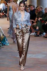 Model Elsa Hosk walks on the runway during the Alberta Ferretti Fashion Show during Milan Fashion Week Spring Summer 2018 held in Milan, Italy on September 20, 2017. (Photo by Jonas Gustavsson/Sipa USA)