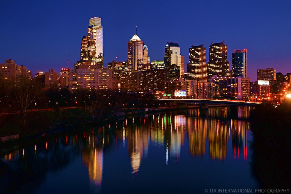 Philadelphia Skyline on Schuylkill River