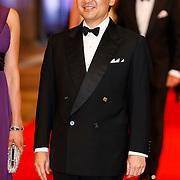 NLD/Amsterdam/20130429- Afscheidsdiner Konining Beatrix Rijksmuseum, prince Nahurito of Japan