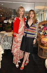 Left to right, JAN DE VILLENEUVE and her daughter DAISY DE VILLENEUVE at an exhibition of rock photographer Mick Rock's exclusive 'the One and Only' photographic prints held at Notting Hill's newly opened boutique 'One' 30 Ledbury Street, London W11 on 22nd June 2006.<br /><br />NON EXCLUSIVE - WORLD RIGHTS