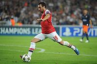 FOOTBALL - UEFA CHAMPIONS LEAGUE 2012/2013 - GROUP STAGE - GROUP B - MONTPELLIER HSC v ARSENAL - 18/09/2012 - PHOTO SYLVAIN THOMAS / DPPI - SANTI CAZORLA (ARS)