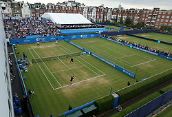 Great Britain's Jamie Murray serving during day six of the 2017 AEGON Championships at The Queen's Club, London.