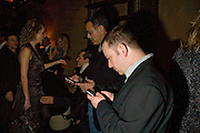 CRAIG PILIGIAN AND LANCE KLEIN. Dinner after the opening of Kevin Lynch: Octagon - private view Hamiltons Gallery, Berkeley St. , London, W1, 17 January 2008. -DO NOT ARCHIVE-© Copyright Photograph by Dafydd Jones. 248 Clapham Rd. London SW9 0PZ. Tel 0207 820 0771. www.dafjones.com.