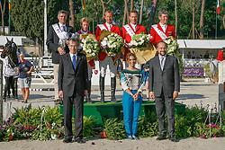 Winner Team Germany :<br /> Ehning Markus (GER) - Copin van de Broy<br /> Ahlmann Christian (GER) - Taloubet Z<br /> Kutscher Marco (GER) - Cornet Obolensky<br /> Beerbaum Ludger (GER) - Gotha<br /> Pricegiving with HRH Princess Haya<br /> FEI Nations Cup of Rome 2012<br /> © Hippo Foto - Beatrice Scudo