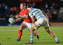 June 16, 2018 - Santa Fe, Argentina - Scott Williams from Wales recives the ball during the International Test Match between Argentina and Wales at the Brigadier Estanislao Lopez Stadium, on June 16, 2018 in Sante Fe, Argentina. (Credit Image: © Javier Escobar/NurPhoto via ZUMA Press)