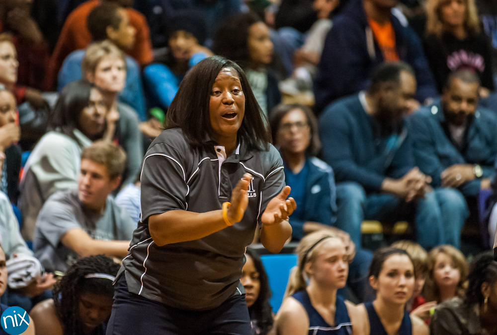 Hickory Ridge basketball coach Tolonda Simmons during a game against Concord last week.
