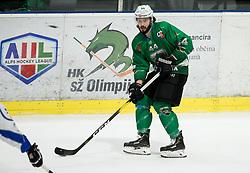 David Planko of SZ Olimpija during ice hockey match between HK SZ Olimpija and WSV Sterzing Broncos Weihenstephan (ITA) in Round #12 of AHL - Alps Hockey League 2018/19, on October 30, 2018, in Hala Tivoli, Ljubljana, Slovenia. Photo by Vid Ponikvar / Sportida