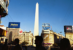 BUENOS AIRES, ARGENTINA:  The Obelisco de Buenos Aires is located in the heart of Buenos Aires. The Obelisco, one of the main icons of Buenos Aires, was built in May 1936 to commemorate the 400th anniversary of the first founding of the city. .(Photo by Ami Vitale)