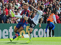 Football - 2019 / 2020 Premier League - Crystal Palace vs. Everton<br /> <br /> James McArthur of Crystal Palace and Bernard of Everton, at Selhurst Park.<br /> <br /> COLORSPORT/ANDREW COWIE