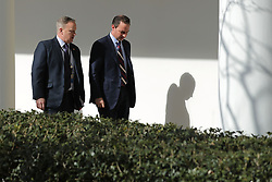 July 21, 2017 - (File Photo) - White House press secretary Sean Spicer has resigned on Friday, after President Trump named a Wall Street financier as his top communications official. PICTURED: February 10, 2017 - Washington, District of Columbia, United States of America - White House Press Secretary SEAN SPICER (L) and White House Chief of Staff REINCE PRIEBUS walk down the West Wing Colonnade following a bilateral meeting between U.S. President Donald Trump and Japanese Prime Minister Shinzo Abe.  (Credit Image: © Chip Somodevilla/Pool/CNP via ZUMA Wire)